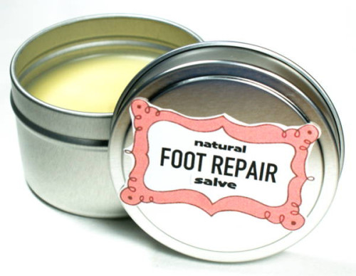 Foot Repair Salve Recipe! This natural DIY foot repair salve recipe contains neem oil prized for its strong antibacterial and antifungal properties that help to promote healing.