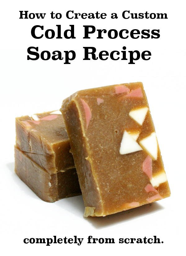 Learn how to make your own cold process soap recipe from scratch plus information on how to use a lye calculator and other soapmaking notes and tips.