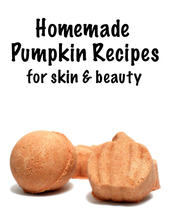 Craft these fun homemade pumpkin recipes for skin and beauty this fall and enjoy the fragrance of warm pumpkin spice in your bath and beyond!