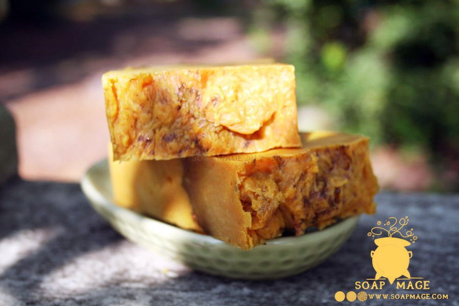 This hot process pumpkin pie soap recipe is made using the crockpot method and is made using frozen coconut milk cubes and canned pumpkin. It's a sure hit for fall and beyond for anyone who is a fan of pumpkin pie!