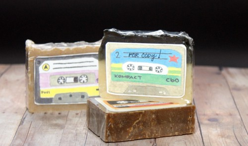These DIY mix tape soap favors make great party favors, stocking stuffers and even homemade holiday gifts for co-workers or other large groups!