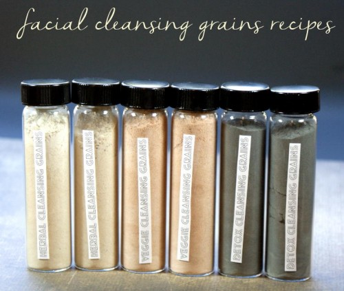 These organic facial cleansing grains recipes are an excellent natural alternative to soap and water that are not only kinder to your skin but are also incredibly easy to make!