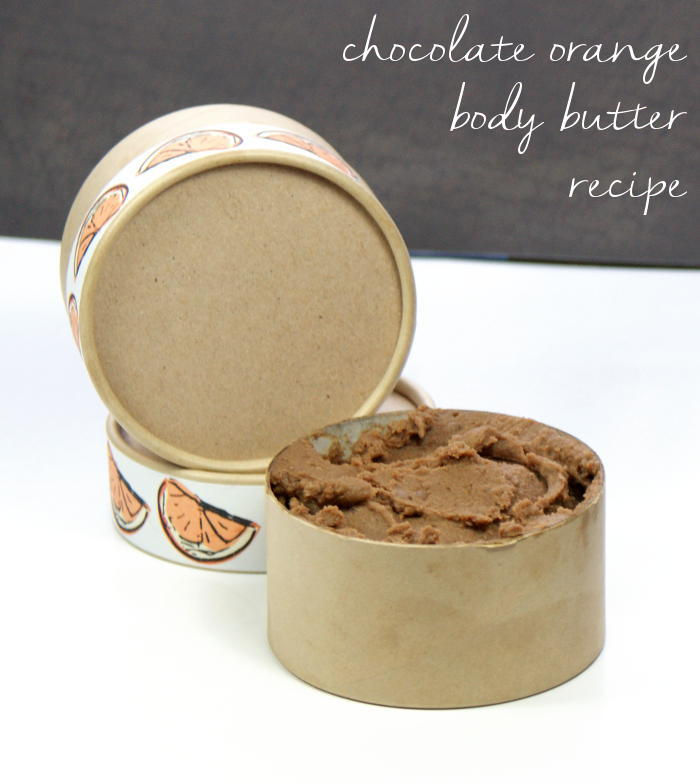 This homemade chocolate orange body butter recipe is made with real cocoa powder as well as skin nourishing shea and cocoa butters. Not only does it smells great but it's also non-greasy! Pair it with my matching chocolate orange body scrub recipe for a fantastic homemade gift set perfect for bath and body lovers!