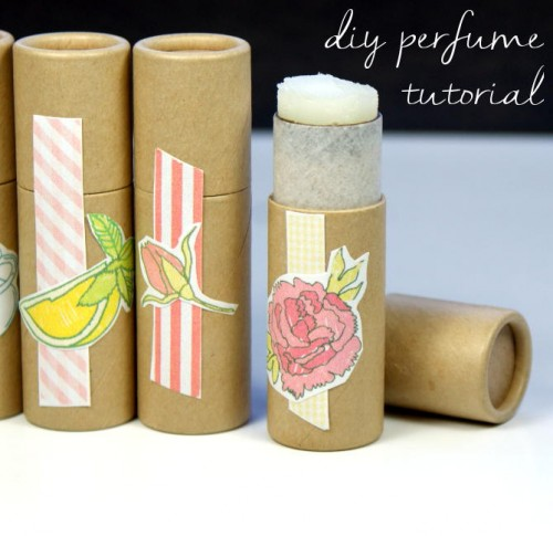 This easy homemade solid perfume recipe makes a wonderful homemade gift idea for the holidays! Tuck these solid perfumes into the stockings of your favorite scent divas or simply create your own amazing fragrance line for yourself!