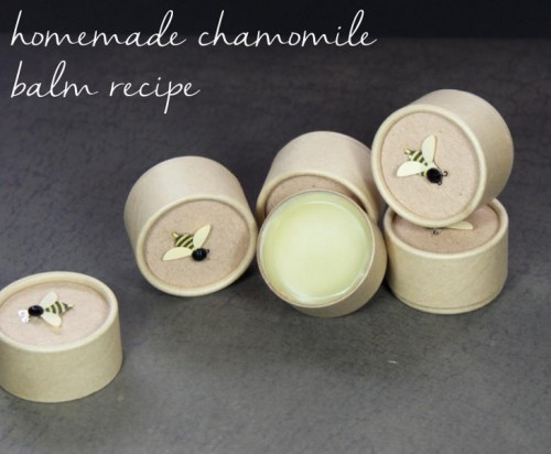 This simple homemade chamomile balm recipe is simply divine. Leave it unscented or scent yours with cocoa, ginger and espresso like I did mine. Then top off the sustainable and eco-friendly packaging with cute bee sticker embellishments to give as homemade gifts!