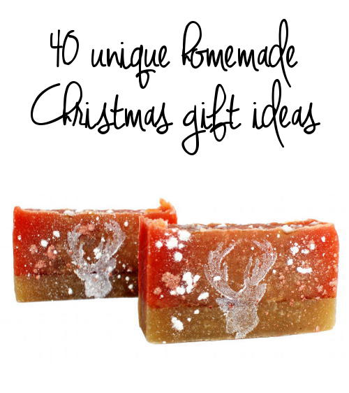Looking for unique homemade Christmas gift ideas? Then be sure to consider this fantastic collection of 40+ unique homemade Christmas gift ideas that you can make yourself!