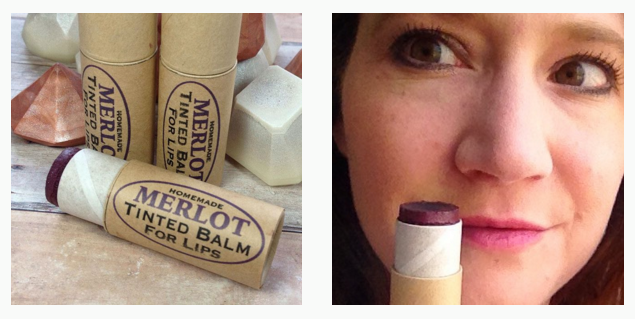 This merlot tinted lip balm recipe creates a super moisturizing tinted lip balm for lips that look and feel fabulous! Create your own in custom colors for your own personal style or give my own fun and flattering tinted lip balm recipe a try as is for a beautiful look perfect for parties or everyday wear.