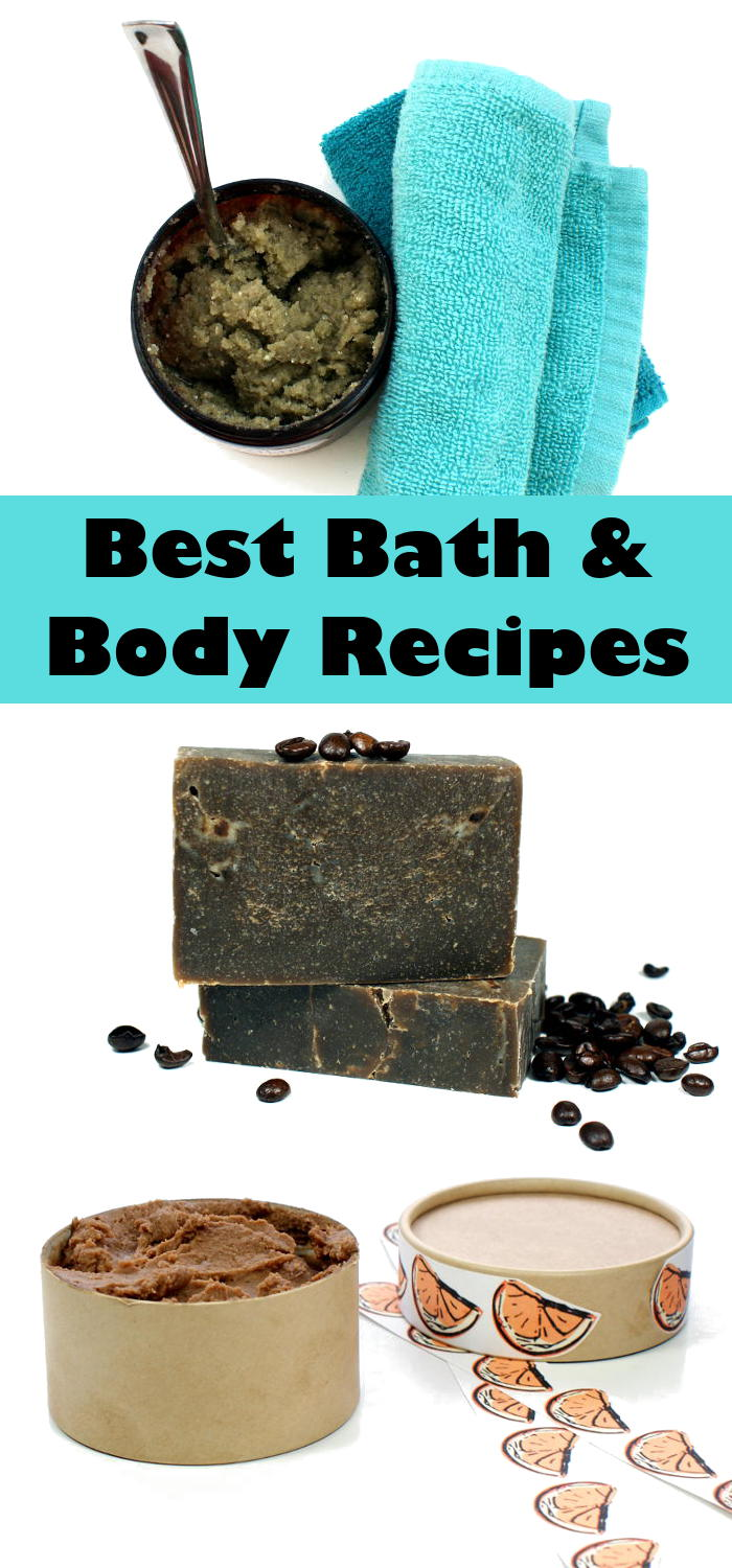 Discover the best homemade bath and body recipes for the past year! Bath and body recipes for making natural healing balms, homemade soaps, scrubs and more!