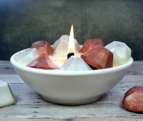 Learn how to make these fun DIY gemstone candles to decorate your space or as homemade gift ideas!