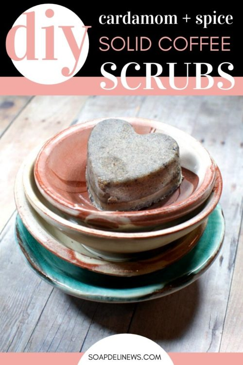 Coffee Sugar Scrub Recipe for Valentine's Day. Learn how to craft these DIY solid coffee scrubs for DIY Valentine's day gifts for natural skin care. A self care treat for skin, this homemade solid coffee sugar scrub recipe exfoliates skin to reduce the appearance of cellulite. So you get soft, beautiful glowing skin naturally! The perfect treat for your natural beauty regimen, this easy solid coffee scrub DIY is a must have natural skin care product for soft skin. #coffeescrub #skincare #gifts