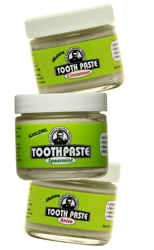 Uncle Harry's Alkalizing Toothpaste naturally neutralizes acid on teeth and whitens teeth almost immediately. Also works great as an anti-acne spot treatment for stunning, fast results!