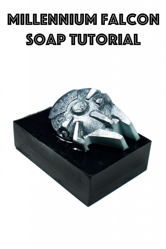 Learn how to make your own DIY Star Wars inspired soaps with this DIY Star Wars melt and pour soap tutorial that creates fun Millennium Falcon and X-Wing Fighter shaped soaps soaring through the galaxy!
