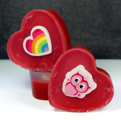 Learn how to craft these fun DIY Valentine's Day soaps for kids! Each easy to craft Valentine's Day soap has a Valentine themed eraser tucked inside that they use after the soap is gone.