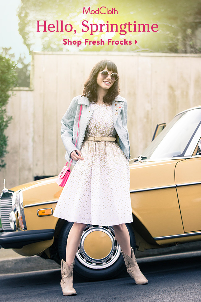 Fantastic spring fashion trends now at ModCloth! I LOVE these retro and vintage inspired outfits!