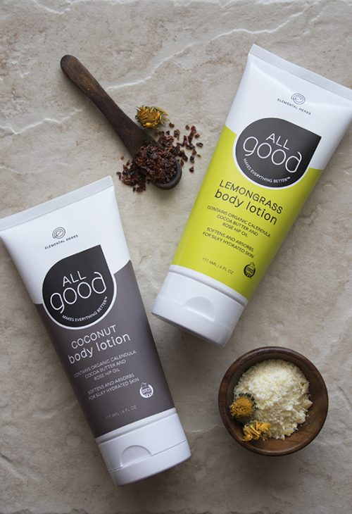 For those of you who don't have the time to make your own homemade lotions, All Good makes an excellent all natural lotion line. These nourishing lotions don't feel greasy and they're made using only the finest botanical ingredients. Available in coconut and lemongrass, these lotions are free of chemicals, are non-GMO, gluten free, vegan, non-nano, and biodegradable.