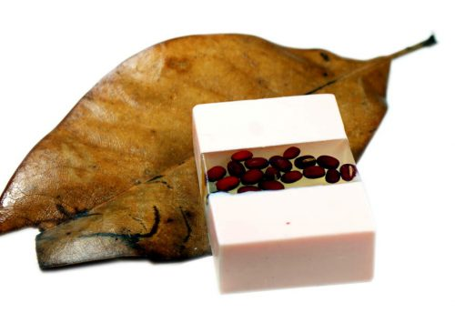 This adzuki bean soap recipe highlights the beauty of adzuki beans by combining both clear and opaque melt and pour soap bases for a lovely homemade gift!