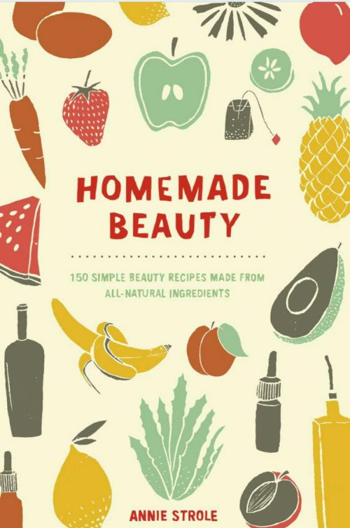 Homemade Beauty - 150 all-natural skin, hair and body care recipes. From turning blueberries into a lush detoxifying mask to fresh lemongrass into a non-toxic bug repellent, Homemade Beauty takes the ubiquitous eat-local, farm-to-table concept and brings it to the beauty category.