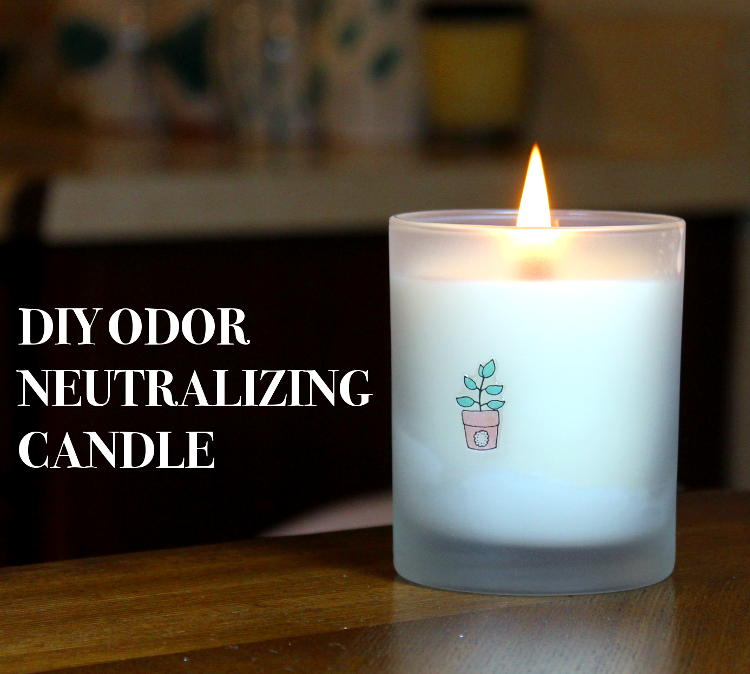 This odor neutralizing candle DIY will teach you how to create your own beautifully scented soy and beeswax candles that neutralize odors in the air while giving off a fresh fragrance as they burn. These odor neutralizing candles are relatively easy to make and they really do work!