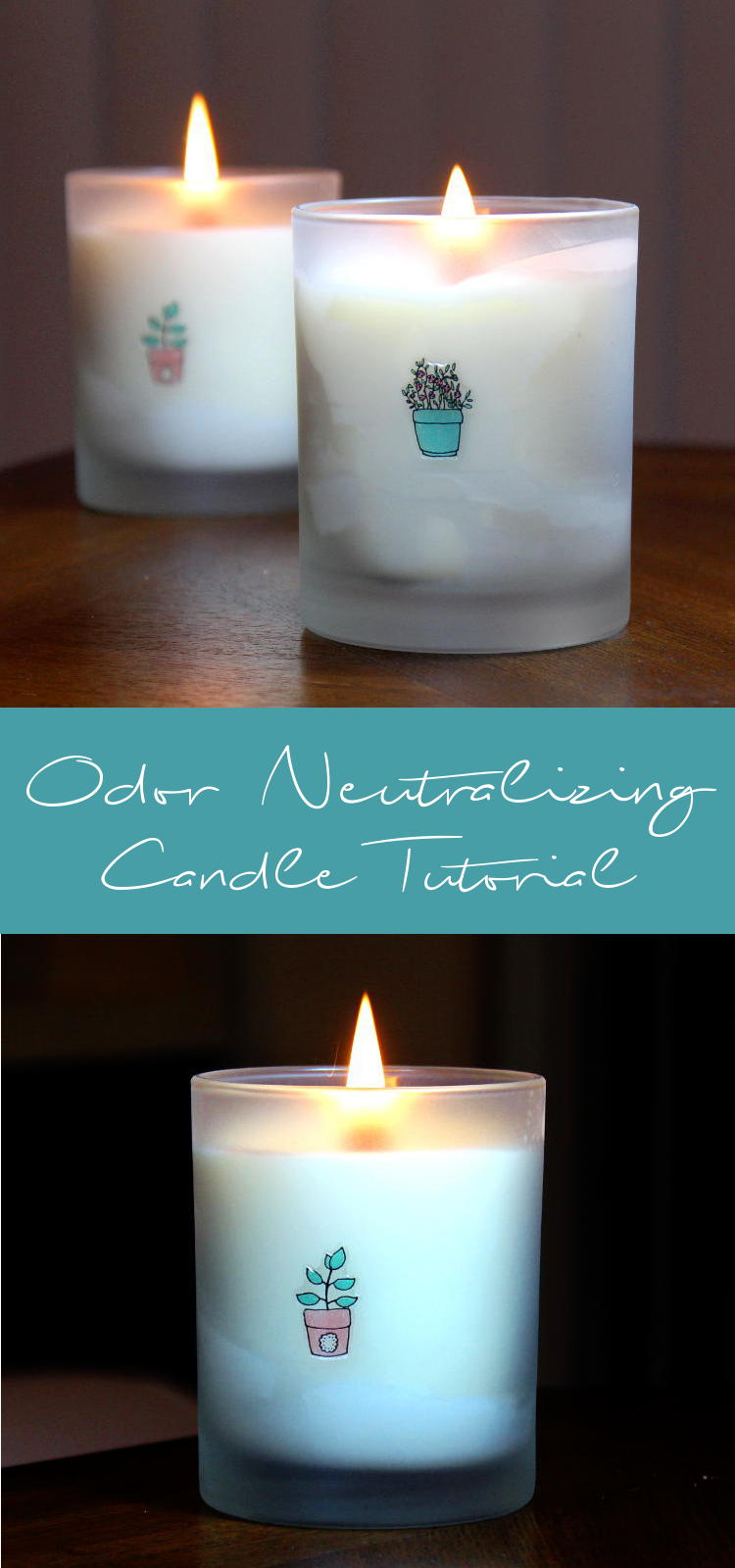 This odor neutralizing candle DIY will teach you how to create your own beautifully scented soy and beeswax candles that neutralize odors in the air while giving off a fresh fragrance as they burn. These odor neutralizing candles are relatively easy to make and they really do work! I tested mine in the kitchen after my boyfriend made curry.