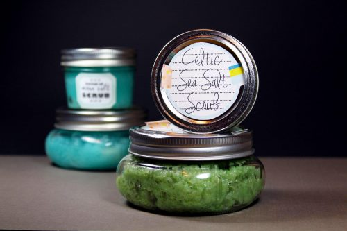 This foaming Celtic sea salt scrub recipe contains light grey Celtic sea salt which is naturally dried by the sun and the wind and contains 82 trace minerals. Its light grey hue comes from the pure clay soil the salt is harvested from and, like dead sea salt, Celtic sea salt is also naturally moist. When used in skin care applications, Celtic sea salt helps to keep skin moisturized and revitalized. In addition it also aids in improving the skin barrier function and helps to eliminate roughness and inflammation on the skin's surface.