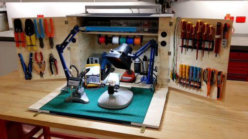 If you're crafty with tools, Dad will go head over heels for this cool DIY soundwave portable electronics workstation (inside view) via Instructables. It transforms and opens to reveal all the tools you need to work on most electronics.
