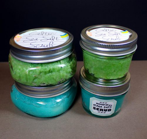 Learn how to make your own emulsified salt scrub and foaming Celtic sea salt scrub with two fantastic homemade sea salt scrub recipes from Soap Deli News blog.
