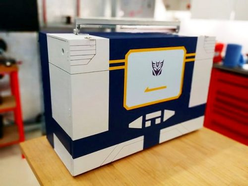 DIY Soundwave Portable Electronics Workstation - If you're crafty with tools, Dad will go head over heels for this cool DIY soundwave portable electronics workstation via Instructables. It transforms and opens to reveal all the tools you need to work on most electronics.