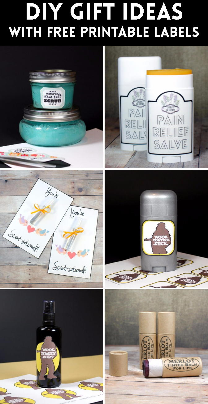 Explore this collection of DIY gift ideas that all come with free printable labels for gifting. Once you've made your homemade gifts, simply print out the PDF labels provided within the blog tutorial and adhere to your packaging for a DIY gift that's sure to be remembered and appreciated.