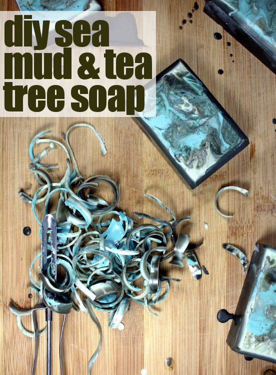 Tea Tree & Sea Mud Soap Recipe! This gorgeous homemade soap DIY is the product of a soapmaking experiment that failed and was then reinvented into the gorgeous soap you see here. Find the soapmaking recipe to create the success now at Soap Deli News blog and learn how to turn your soapmaking fail into a success worthy of gifting!