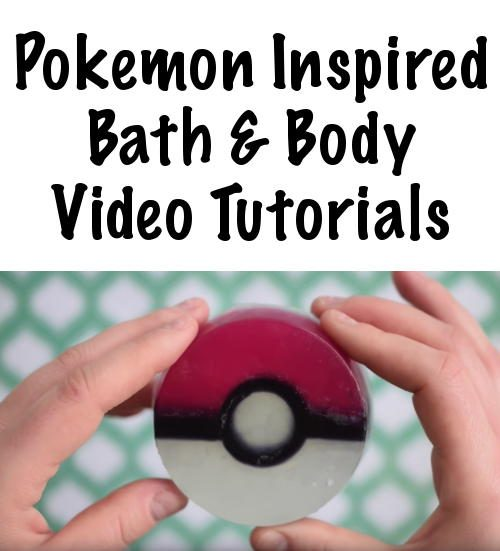Whether you're a Pokemon Go fan are have Pokemon Go fans at home, these Pokemon inspired video tutorials for making your own Pokemon Pokeball Soaps and Pokemon Pokeball Bath Bombs mean more fun for the entire family.