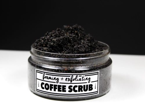 "Learn how to make your own homemade ""foaming"" and exfoliating coffee scrub recipe that won't clog pores and is oil free!"