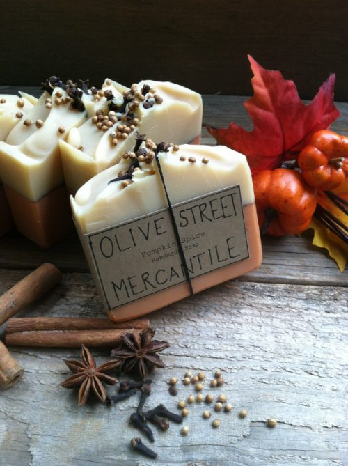 Homemade Pumpkin Spice Olive Oil Soap by Olive Street Mercantile