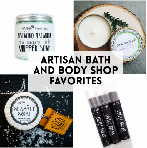Artisan Bath and Body Shop Favorites: Three artisan bath and body Etsy shops I'm crushing on right now!