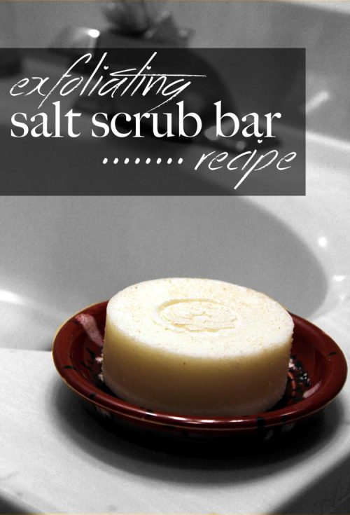 This exfoliating salt scrub bar recipe is similar to traditional salt scrubs but in a convenient solid form. Use it in the shower after bathing for soft, smooth skin that feels moisturized and happy!