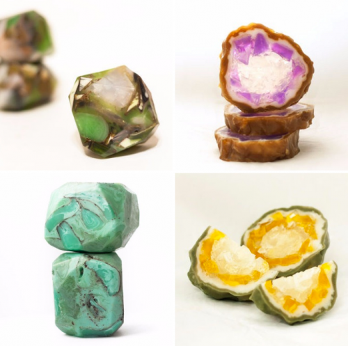 Lotus Flower Soap sells exclusive gift gem soaps handcrafted using natural butters and aromatherapeutic essential oils.