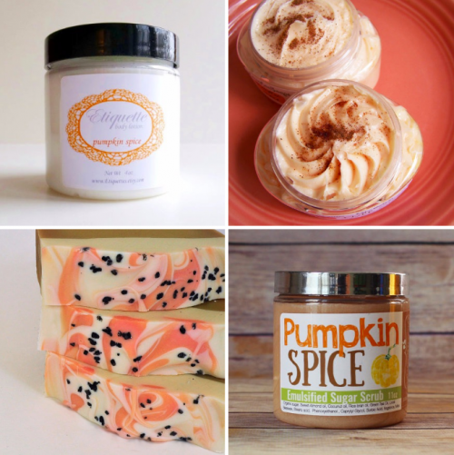 Handmade Pumpkin Spice Bath and Body Favorites