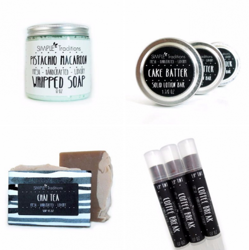Simple Traditions offers an array of bath and beauty products hand crafted by a stay at home mom. You're sure to find many favorites here among the wide selection of whipped soaps, body scrubs, solid lotion bars, lip tints and solid perfumes.
