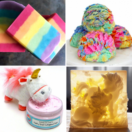 Unicorns, Unicorn Poop, Rainbows & Sparkles // Who doesn't love unicorns? I mean, heck. They poop RAINBOWS. Here are some of my favorite handmade unicorn inspired products from unicorn poop to rainbow sparkles all created to delight the senses and remind you that there really is a little magic in the world.