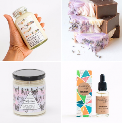 Favorite Things and Handmade Gift Ideas // From handmade bath and beauty products to soy candles and jewelry, these are just a few of my favorite recent finds!