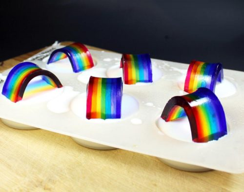 These DIY rainbow soap favors are easier to make than you might think and they make super cute favors for parties or weddings!