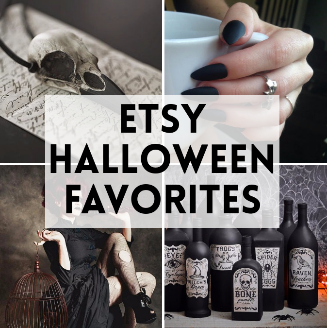 A collection of witchy, creepy, crawly, awesome Etsy Halloween favorites to help you celebrate this fantastic holiday!