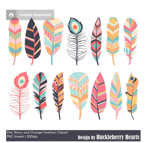 Feather Clipart from Huckleberry Hearts