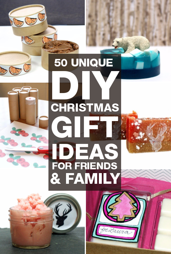 Diy Christmas Gifts 50 Unique You Can Make For Friends And Family Soap Deli News