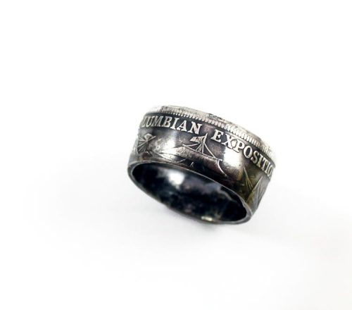 Handmade Coin Ring by Lucky Buttons Jewelry