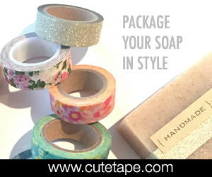 washi tape and packaging from cute tape