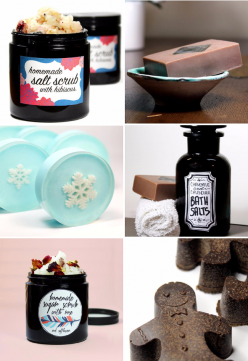 A huge collection of DIY bath and body Christmas gift ideas that anyone can make from home!