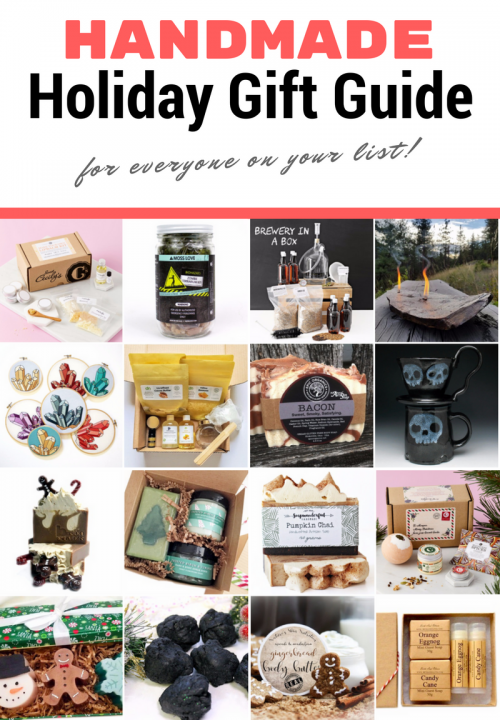 Giving handmade gifts adds special meaning to your holiday gift exchange experience. But not everyone has the time to make their gifts. Even if you can't make your own gifts, you can give the gift of handmade. This handmade holiday gift guide offers a little something for everyone this holiday season. Not only will your recipient appreciate the extra thought, but you're also helping out the artist and their families as well!