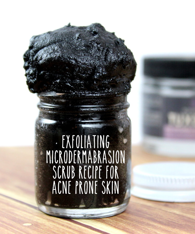 Check out this AMAZING DIY beauty hack for making your own exfoliating microdermabrasion scrub recipe for acne prone and combination skin! It contains just TWO ingredients to save you money over expensive commercial options and it doubles as an anti-acne face mask!