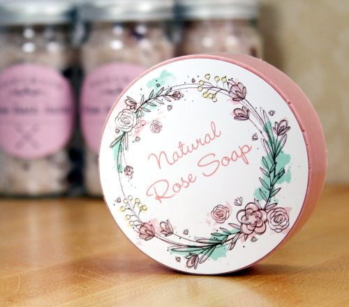 Learn how to make beautiful DIY bath and body Valentine's gifts with custom labels from StickerYou and three bath and body recipes perfect for gifting.