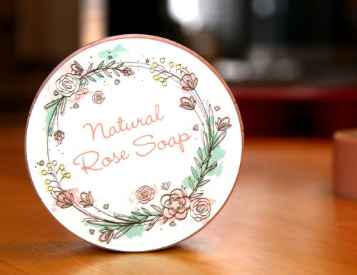 Learn how to make this natural rose soap recipe plus two more amazing DIY bath and body Valentine's gifts with a little help from StickerYou!